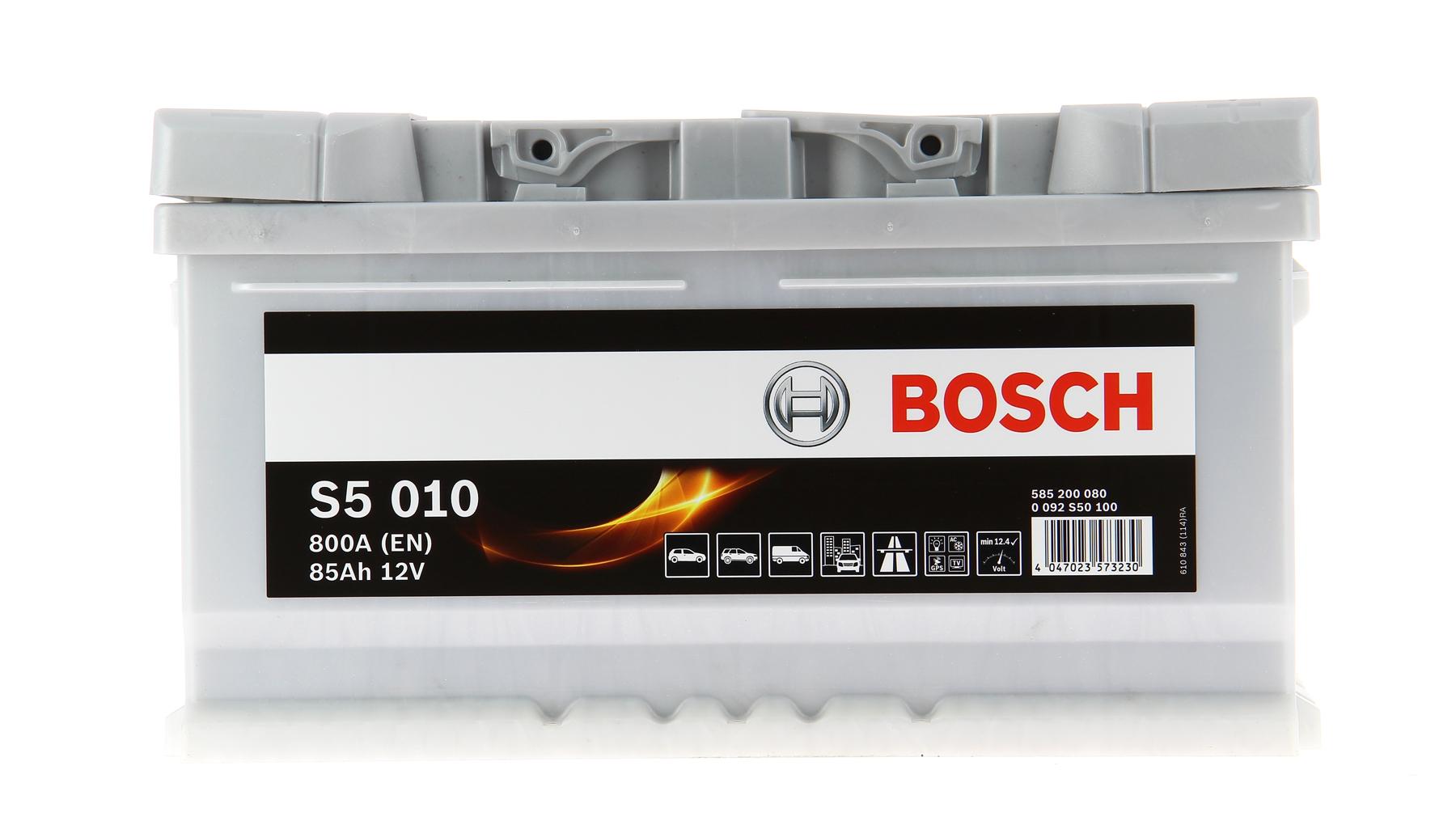 110 BOSCH S5010 S 5010 Batterie de Démarrage 85ah | Achetez